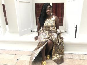 How to Style A Gold Evening Dress